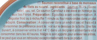 Saumon au naturel - Ingrédients - fr