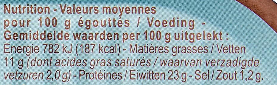 Saumon au naturel - Informations nutritionnelles - fr
