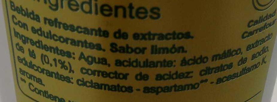 Iced tea light - Ingredientes - es