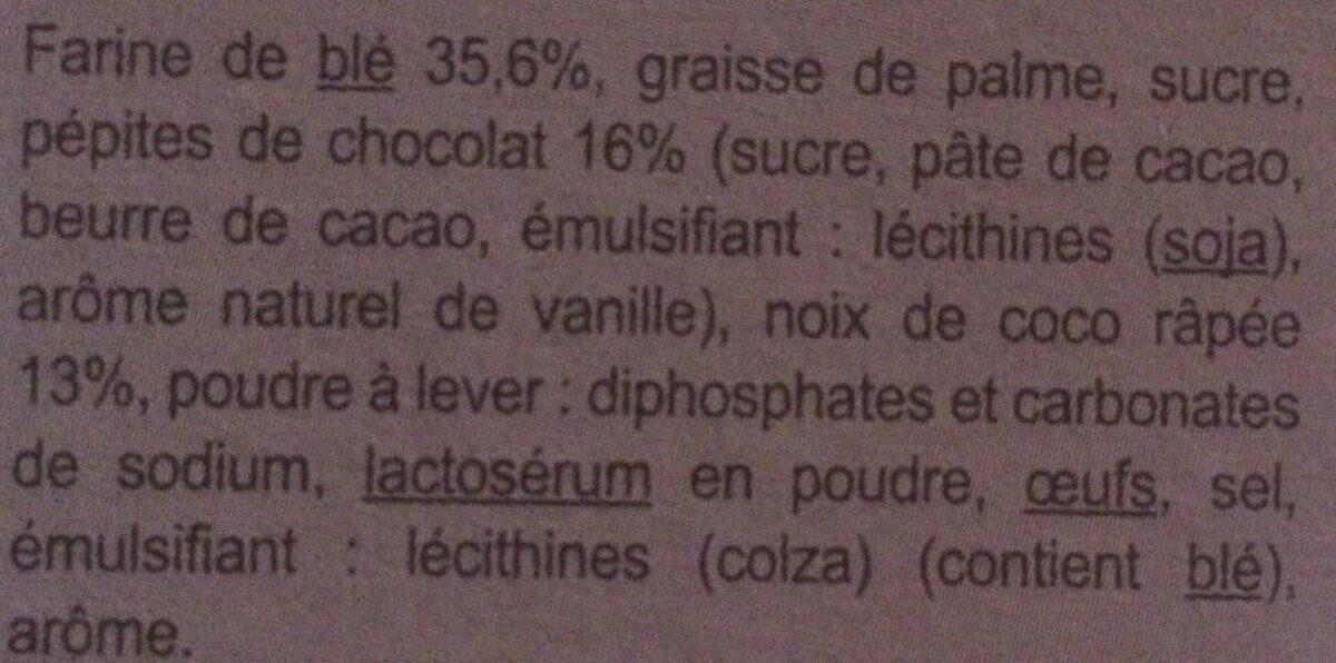 Cookies chocolat noix de coco - Ingredienti - fr
