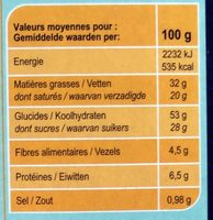 Cookies chocolat noix de coco - Valori nutrizionali - fr