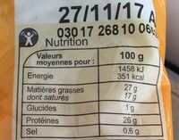Fromage Râpé Carrefour - Voedigswaarden