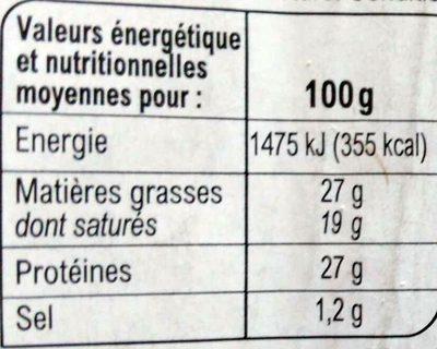 Maasdam - Información nutricional - fr