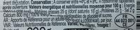 Mimolette jeune (25 % MG) - Nutrition facts