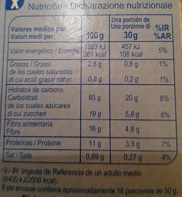 Fibra Flakes - Información nutricional - it