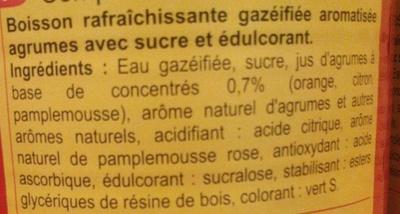Saveur  agrum' - Ingredients