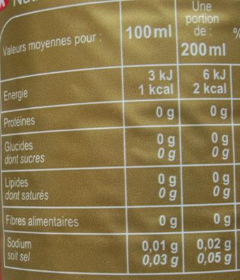 Coca light sans caféine - Valori nutrizionali