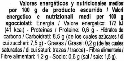 Cebollitas agridulces - Información nutricional - es