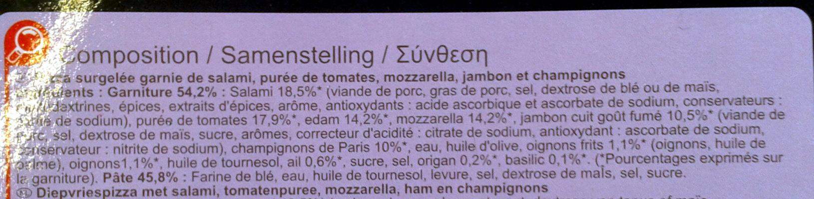 Pizza Especial - Ingredients