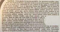 Glace noix de coco, sorbets citron et ananas - Ingrédients - fr