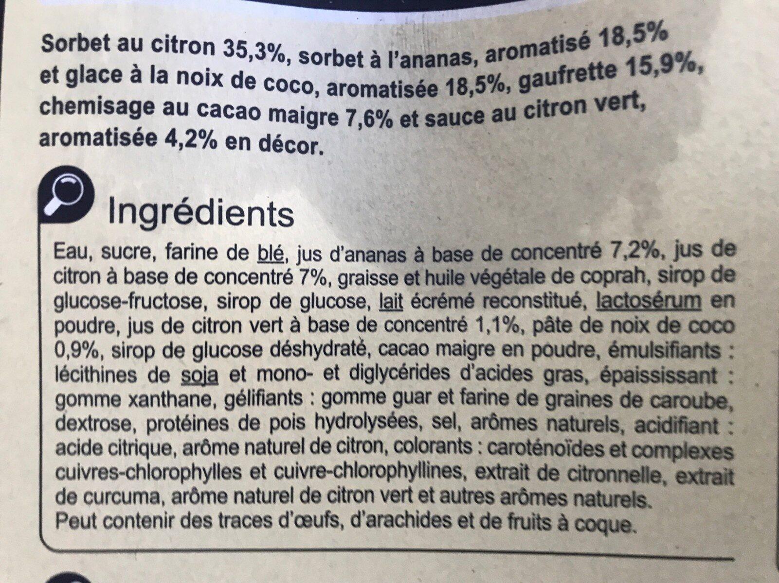 Citron Coco Ananas - Ingrédients - fr