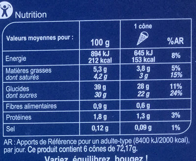 Citron Coco Ananas - Informations nutritionnelles - fr