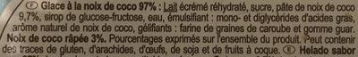 Sorbet Coco - Ingrédients - fr