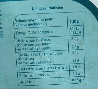 Sorbet Coco - Informations nutritionnelles - fr