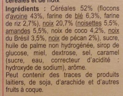 Crunchy Muesli 4 Noix - Ingredients
