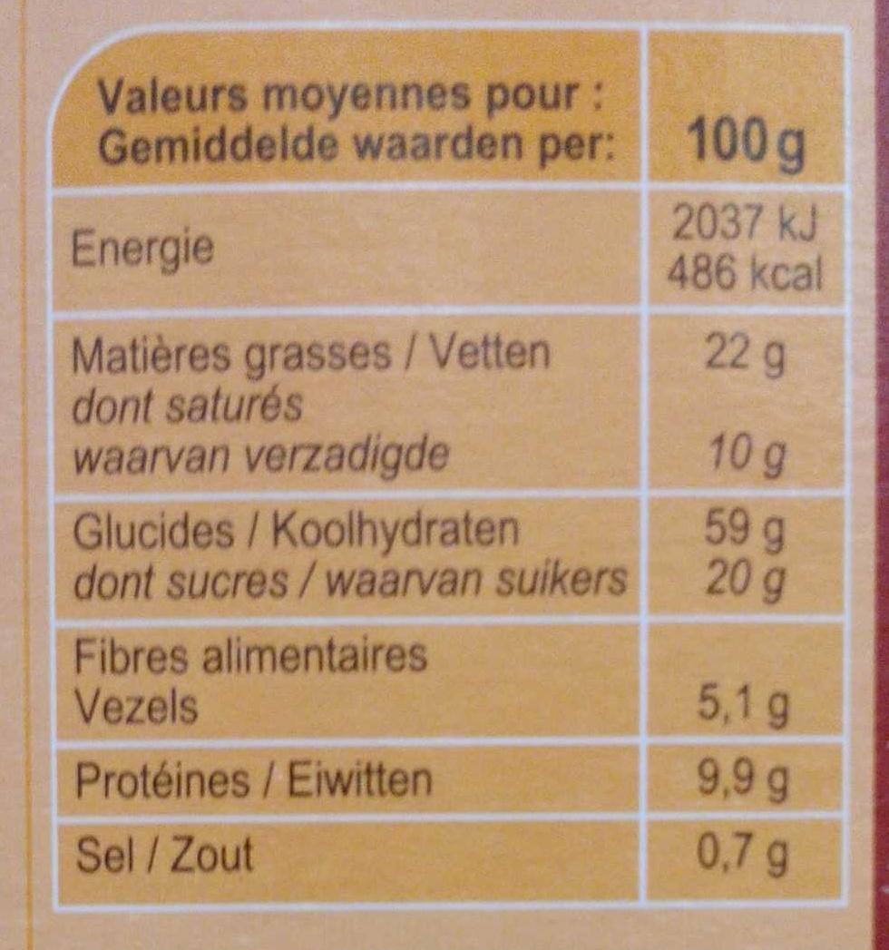 Crunchy Muesli 4 Noix - Nutrition facts