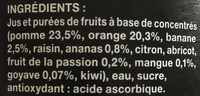 Bocal 1L Nectar Exotique Saxo - Ingredienti - fr