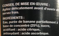 Bocal 1L Nectar Banane Saxo - Ingredienti - fr