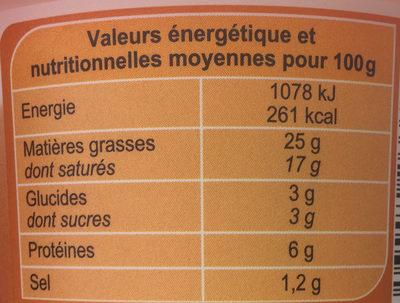 Fromage à tartiner Noix, aromatisé - Informations nutritionnelles - fr