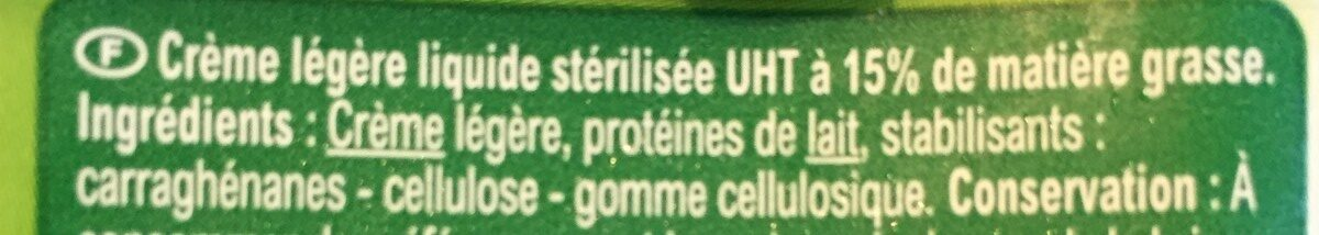 Crème fluide Légère - Ingrediënten - fr