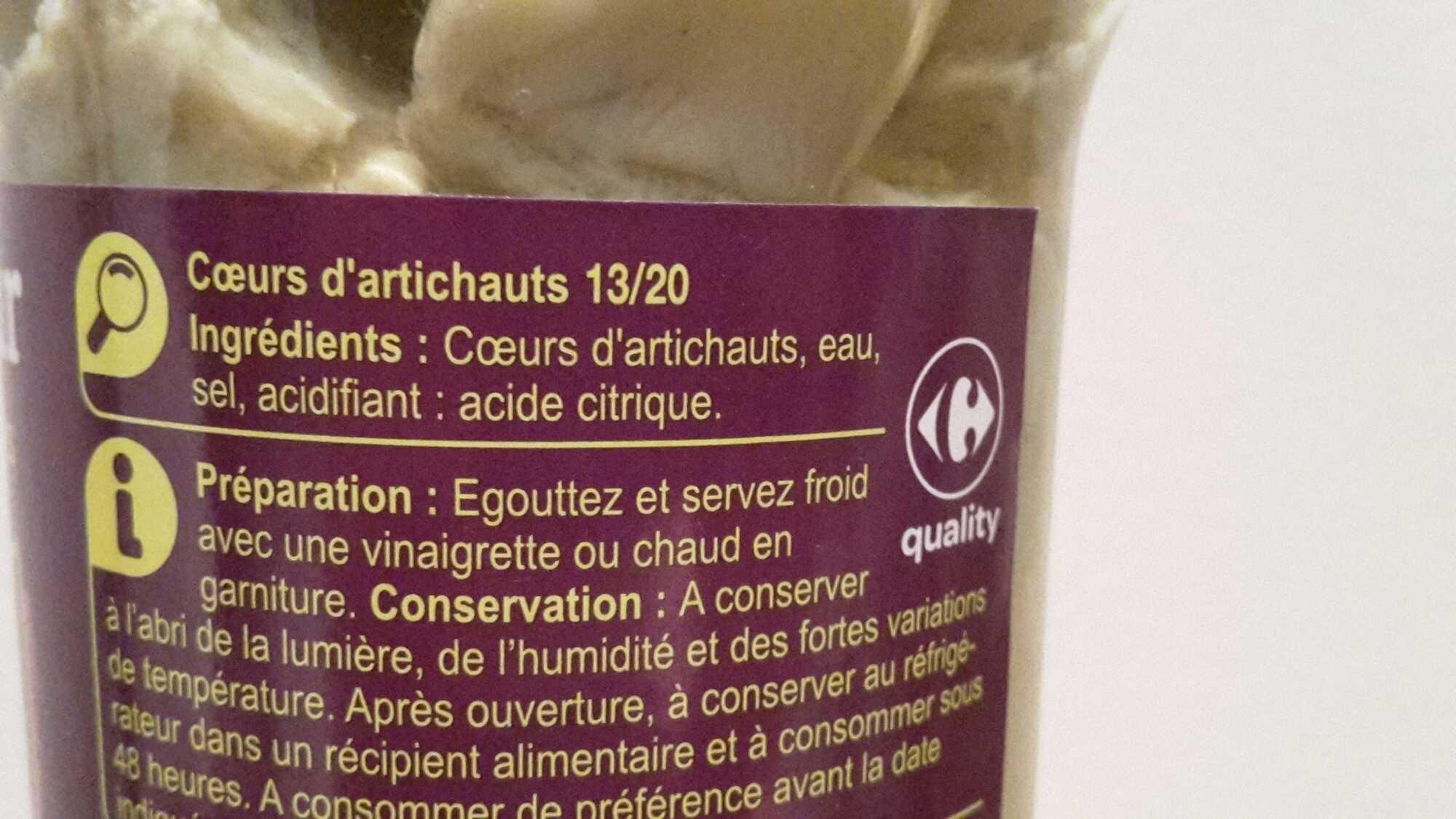 Carrefour Mini Coeurs d'Artichauts - Ingredients