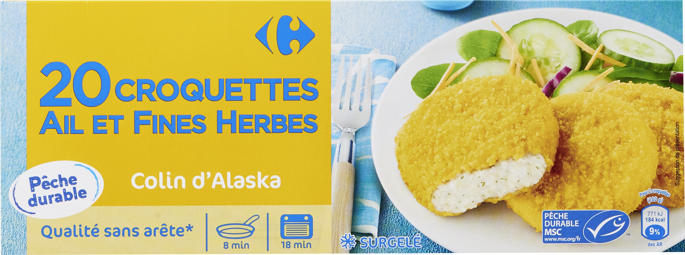 20 Croquettes de poisson - Produit - fr