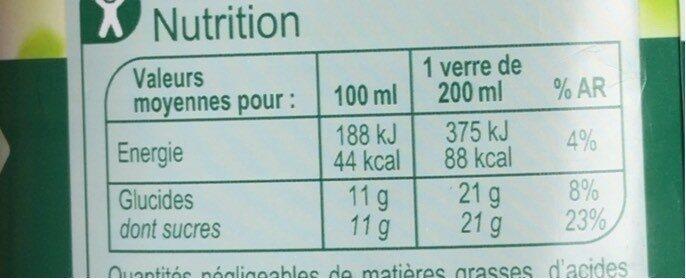 Matin Fruité Douceur - Informations nutritionnelles - fr