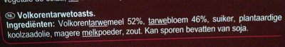 Tartine au blé complet - Voedingswaarden - nl