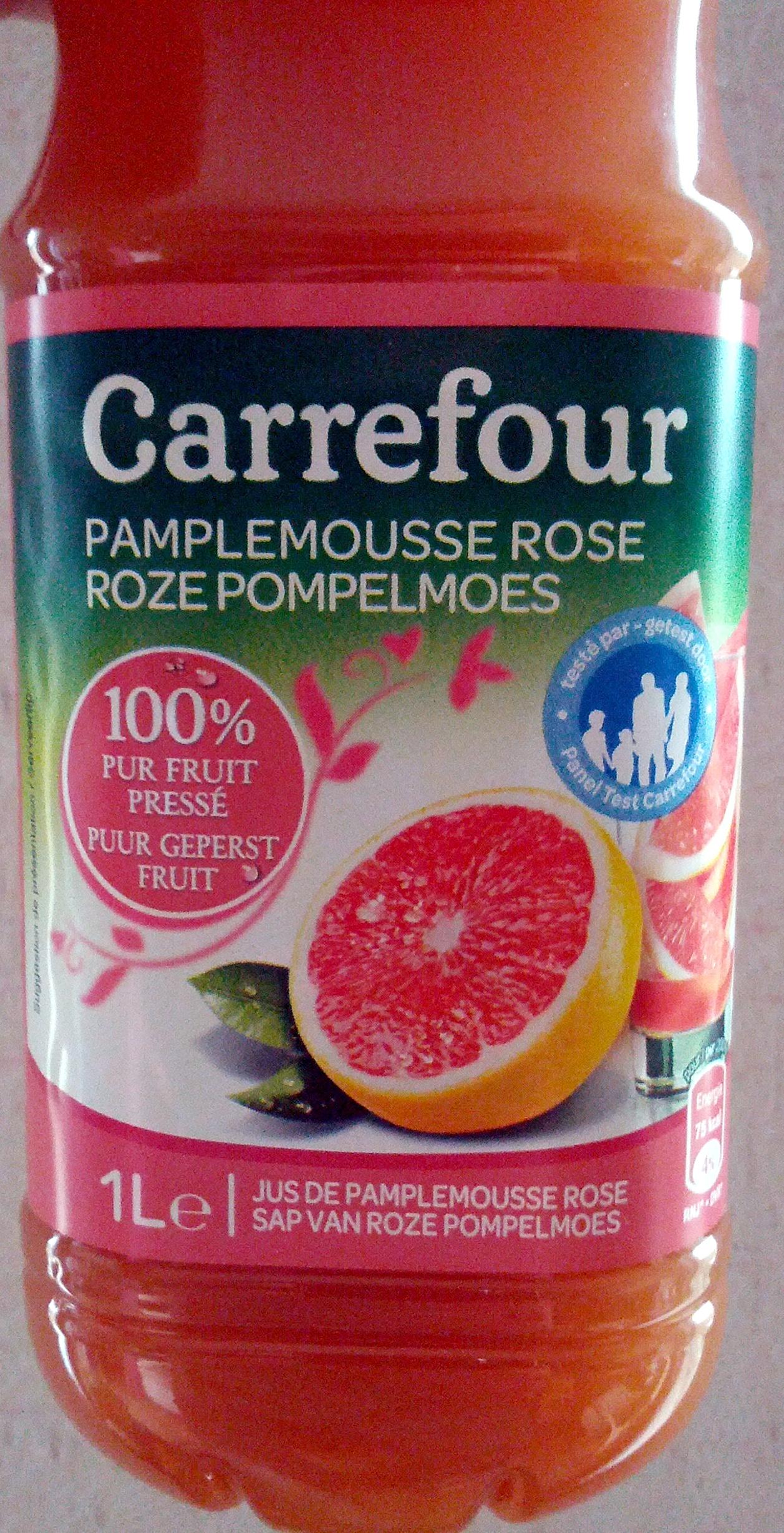 pamplemousse rose 100 pur fruit press carrefour 1 l. Black Bedroom Furniture Sets. Home Design Ideas