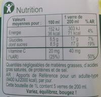 Pamplemousse rose, 100 % Pur Fruit Pressé - Valori nutrizionali - fr
