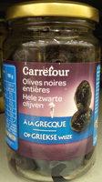 Olives noires entières à la grecque - Produit