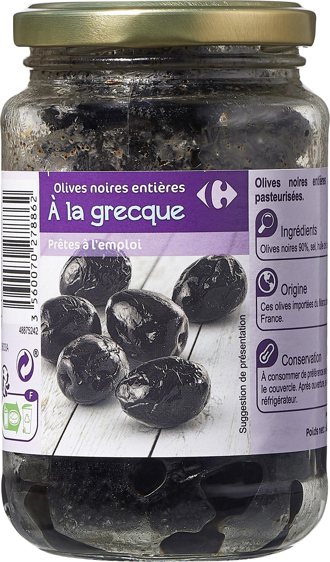 Olives noires entières à la grecque - Prodotto - fr