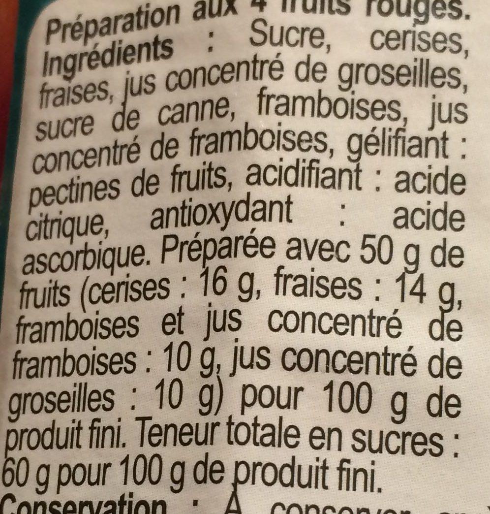 4 fruits rouges - Ingredients - fr