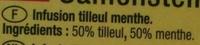 Tilleul Menthe - Ingredients
