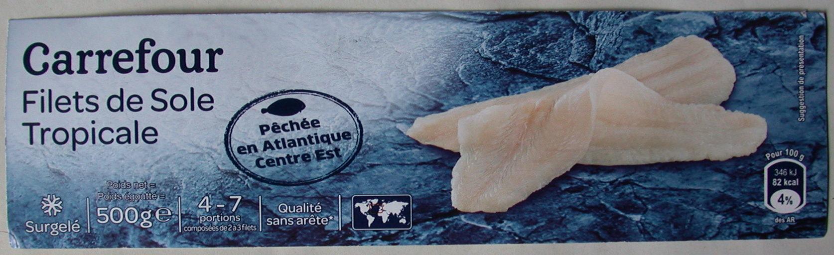 Filet de Sole - Carrefour - 10 g (net égoutté)