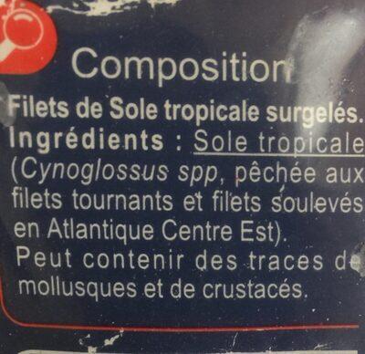 Filet de Sole - Ingrediënten