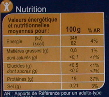 Filet de Sole - Voedingswaarden - fr
