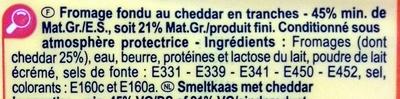 Fromage fondu au Cheddar (21 % MG) - Ingrediënten