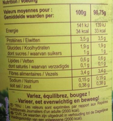 Épinards hachés - Voedingswaarden - fr