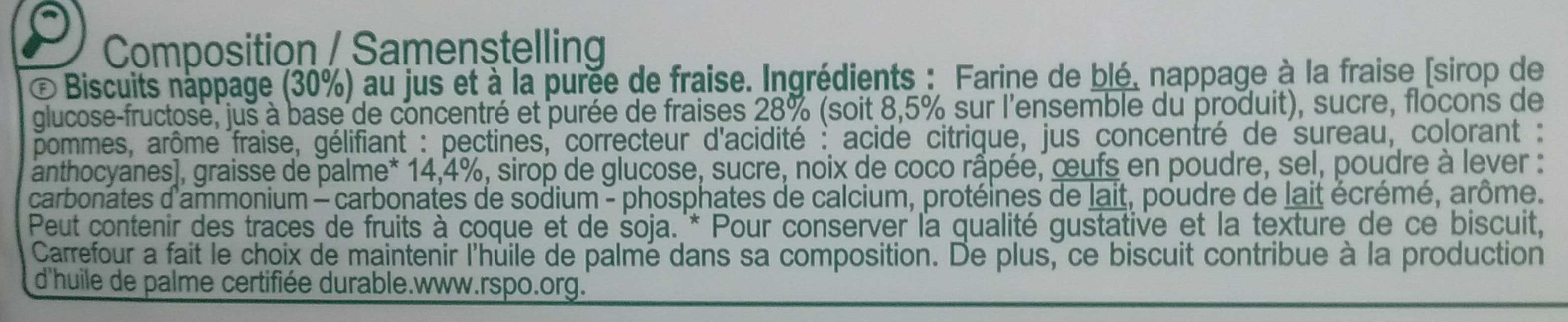 Tartelettes - Ingredients