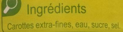 Carottes Extra-Fines - Ingrédients - fr