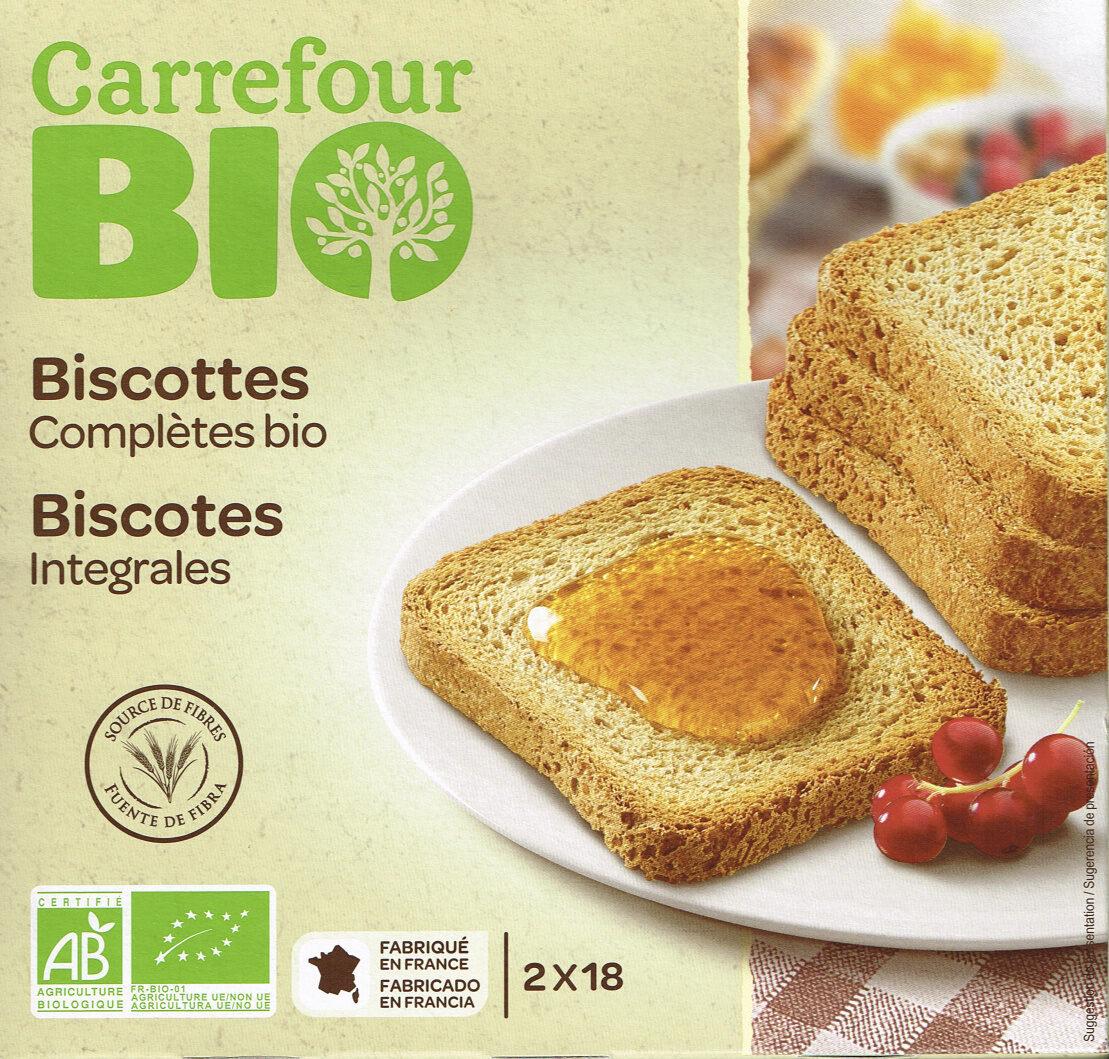 Biscottes complètes bio - Producto - es