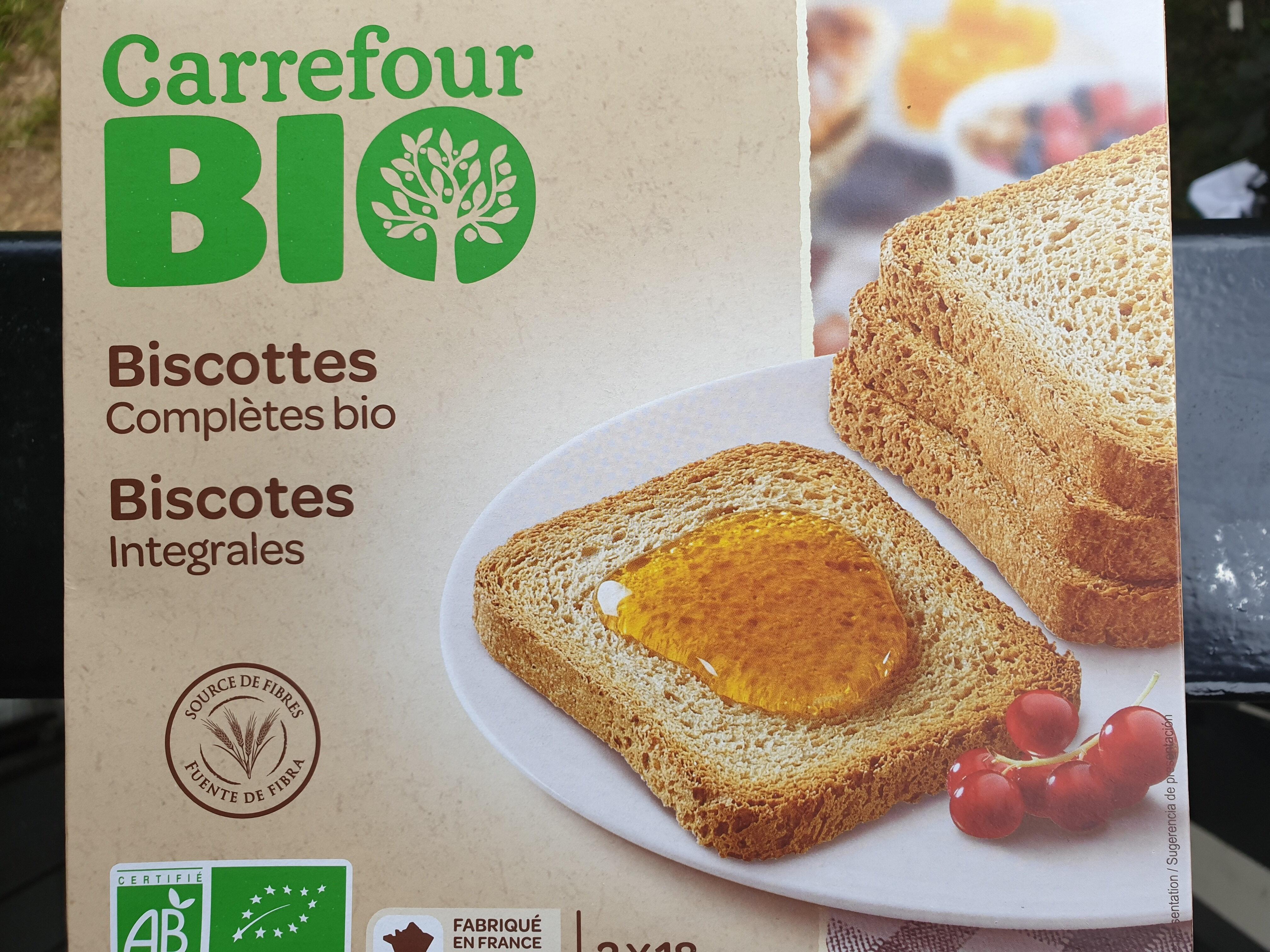 Biscottes complètes bio - Product - fr