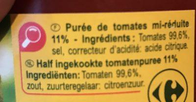 Purée de tomates - Ingrediënten - fr
