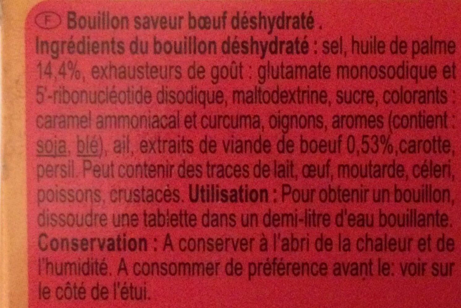 Bouillon goût Boeuf - Ingredients - fr