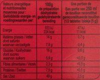 Bouillon goût Boeuf - Informació nutricional - fr