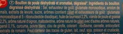 Bouillon Goût volaille Dégraissé* - Ingredientes - fr