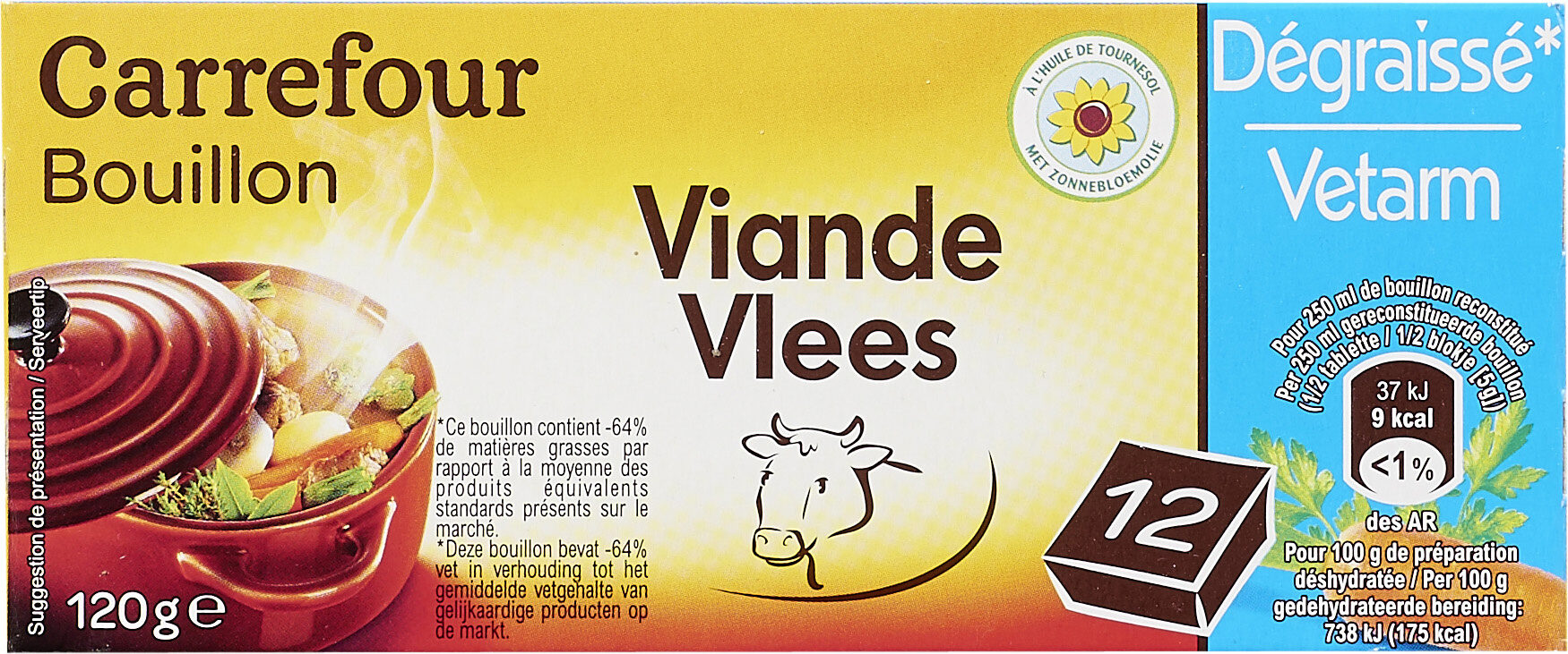 Bouillon Goût boeuf Dégraissé* - Producte - fr