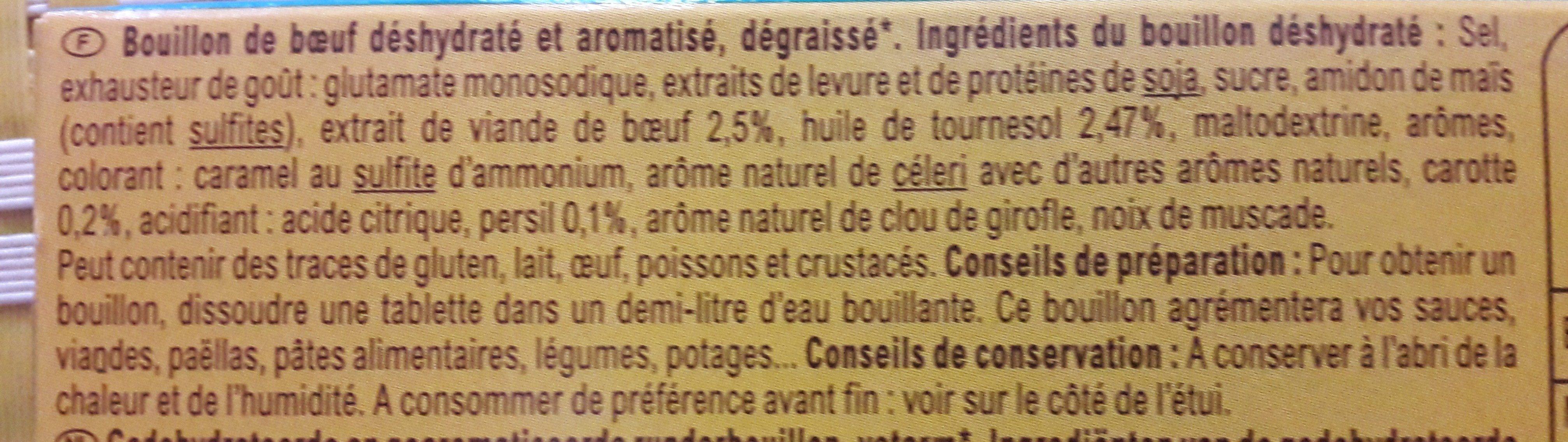 Bouillon Goût boeuf Dégraissé* - Ingredients - fr