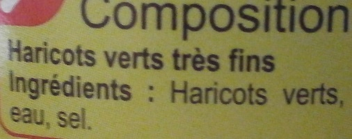 Haricots verts Très fins - Ingredients - fr